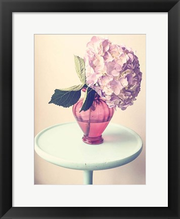 Framed Hydrangea Table Print