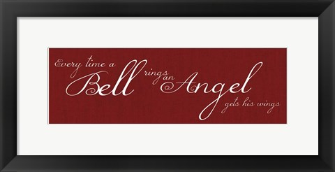 Framed Bell Rings No Bell Print