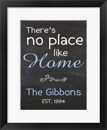 Framed Family Home Chalk Print