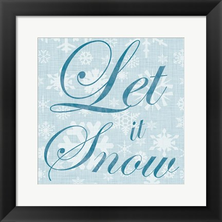 Framed Let It Snow Print