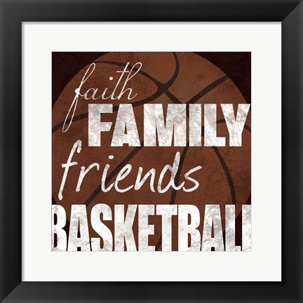 Framed Basketball Friends Print