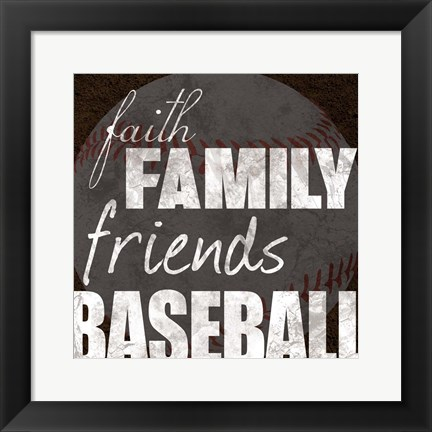 Framed Baseball Friends Print