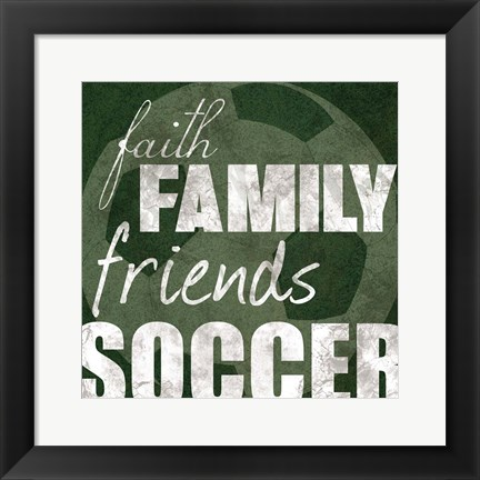 Framed Soccer Friends Print