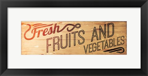 Framed Fresh Fruits And Vegetables Print