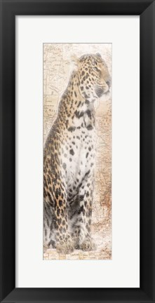 Framed African Traveling  Animals Print