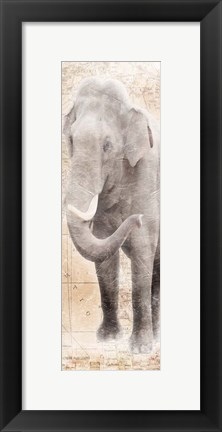 Framed African Traveling  Animals Elephant Print