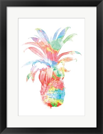 Framed Colorful Pineapple Clean Print