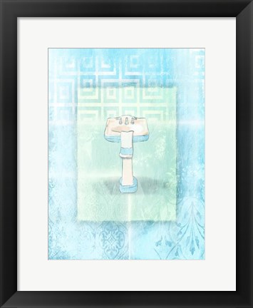 Framed Soft Blue Sink Print