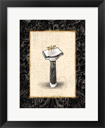Framed Black Gold Sink Print