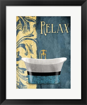 Framed Tub Relax Print