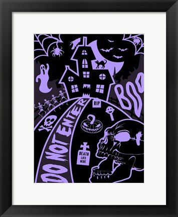Framed Haunted Fun House Print