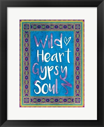 Framed Wild Heart Print