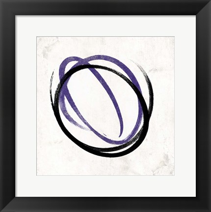 Framed Abstract Circle Purple Print