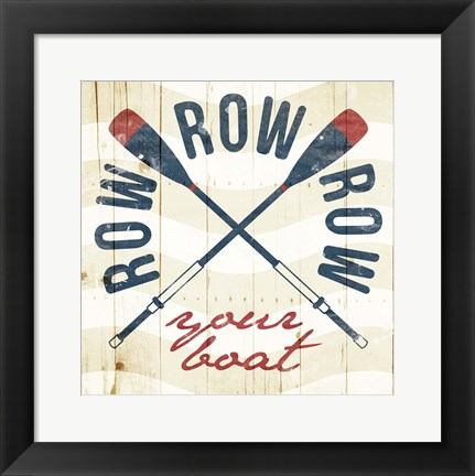 Framed Row Your Boat Print