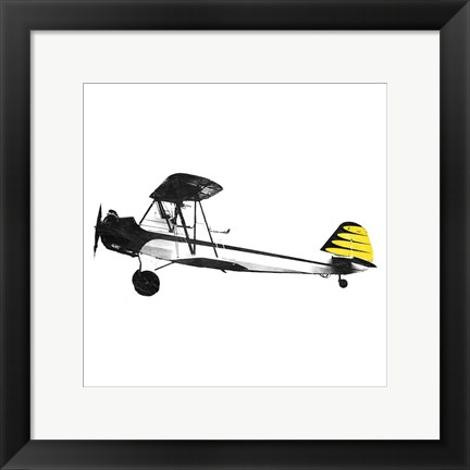 Framed Simple Plane Yellow Print