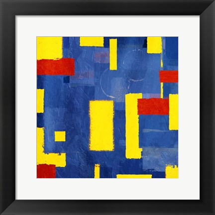 Framed Pop Rectangular Abstract Print