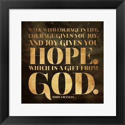 Framed Gift from God Print