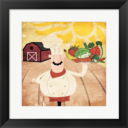 Framed Farming Chef Print