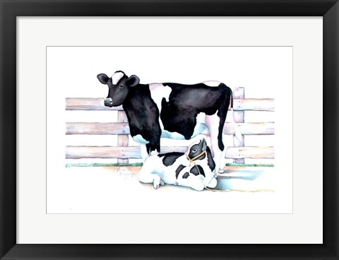 Framed Big Moo Lil Moo Print