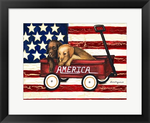 Framed America Friends Print