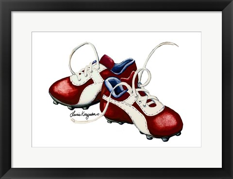 Framed Cleats Print