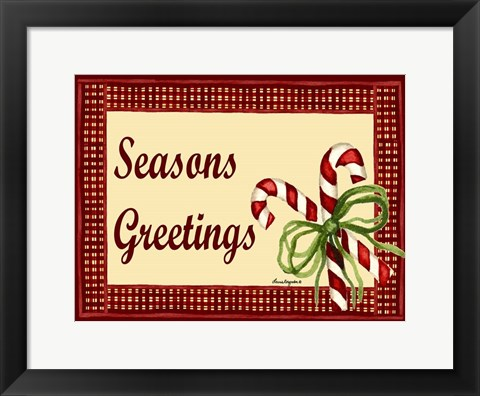 Framed Seasons Greetings Print