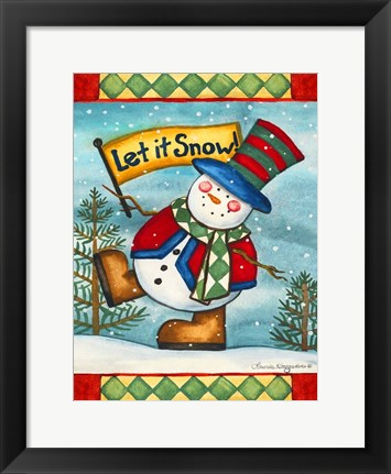 Framed Let it Snow II Print