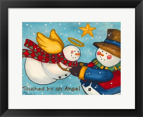 Framed Touched by An Angel Print