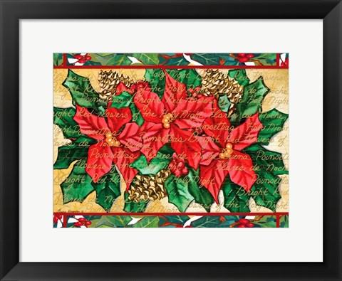 Framed Poinsettas Print