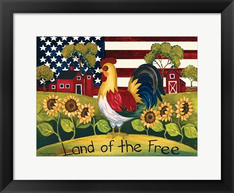 Framed Land Of The Free Print