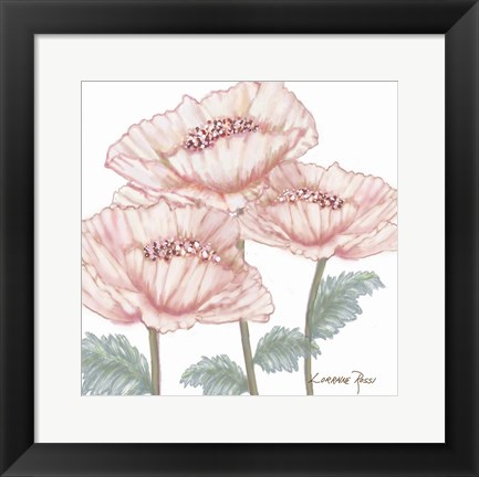 Framed Pink Poppies 2 Print