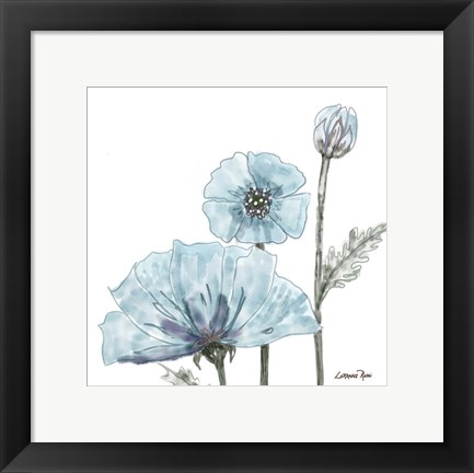 Framed Poppy Perched 2 Print