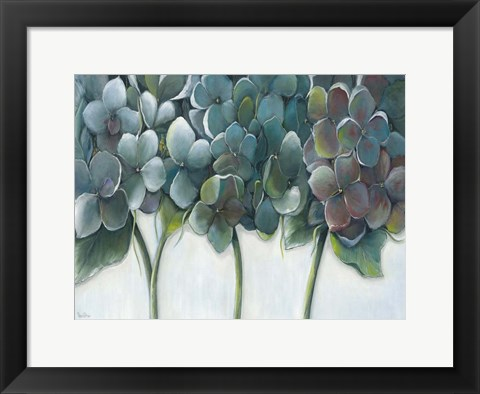 Framed Hydrangea Morning Print