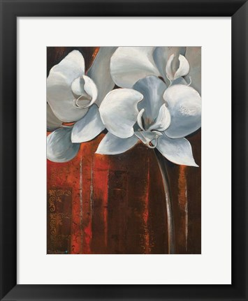 Framed Pearl Orchid I Print