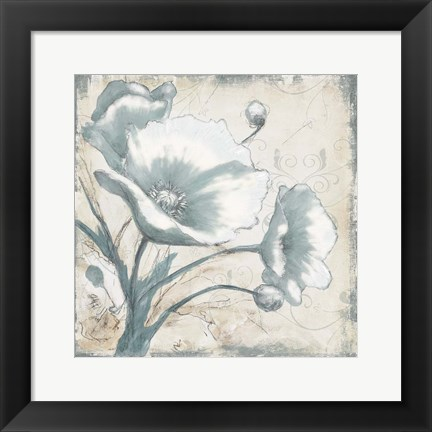 Framed Poppies In Bloom 1 Print