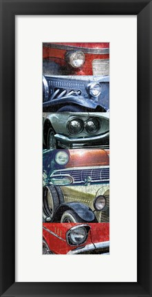 Framed Grunge Cars 1 Print