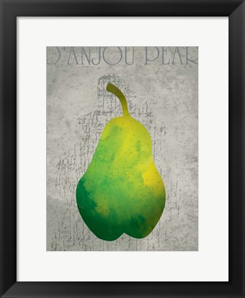 Framed Fruit Watercolor II Print