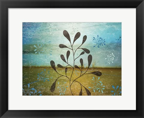 Framed Contemporary Florals 1 Print