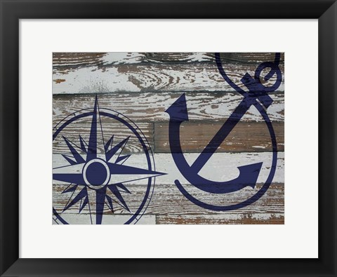 Framed Coastal Nautical 01 Print