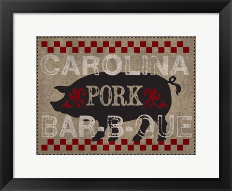 Framed Carolina Pork BBQ Print
