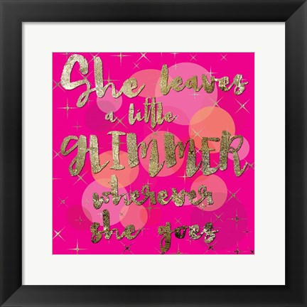 Framed Sparkle Glam Pinks 01 Print