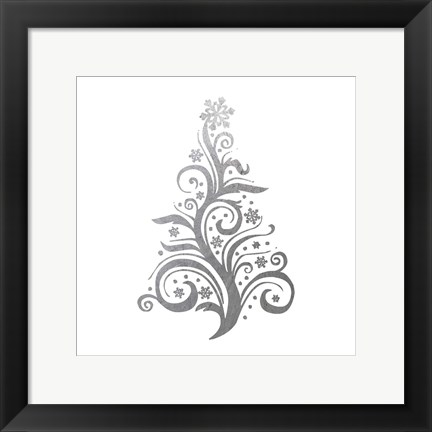 Framed Silver Trees 2 Print