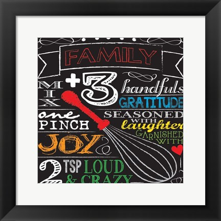 Framed Family Plus Three Print