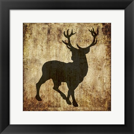 Framed Barbwire Deer Print