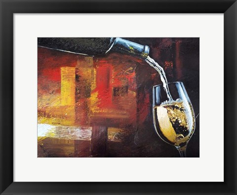 Framed Wine 1 Print