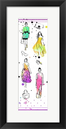 Framed Colorful Dresses Print