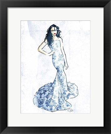 Framed Oriental Dress Mate Print