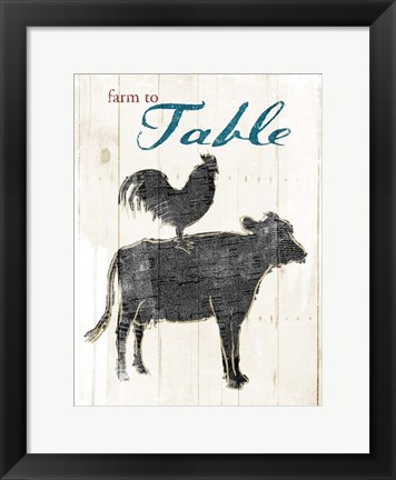 Framed Farm To Table Print