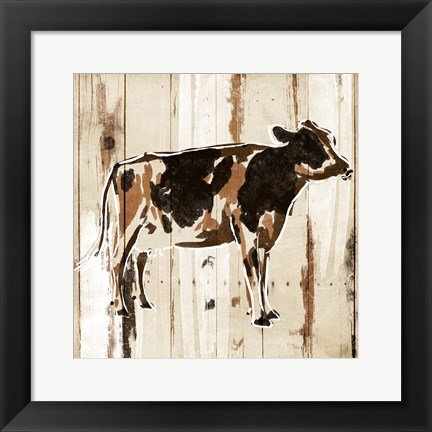 Framed How Now Brown Cow Print