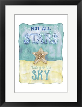 Framed Stars and Sky Print